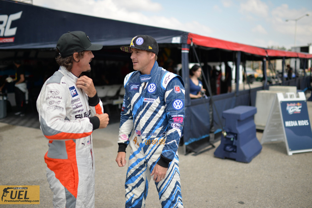 Scott Speed and Buckey Lasek before the race